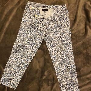 Blue Paisley Pants